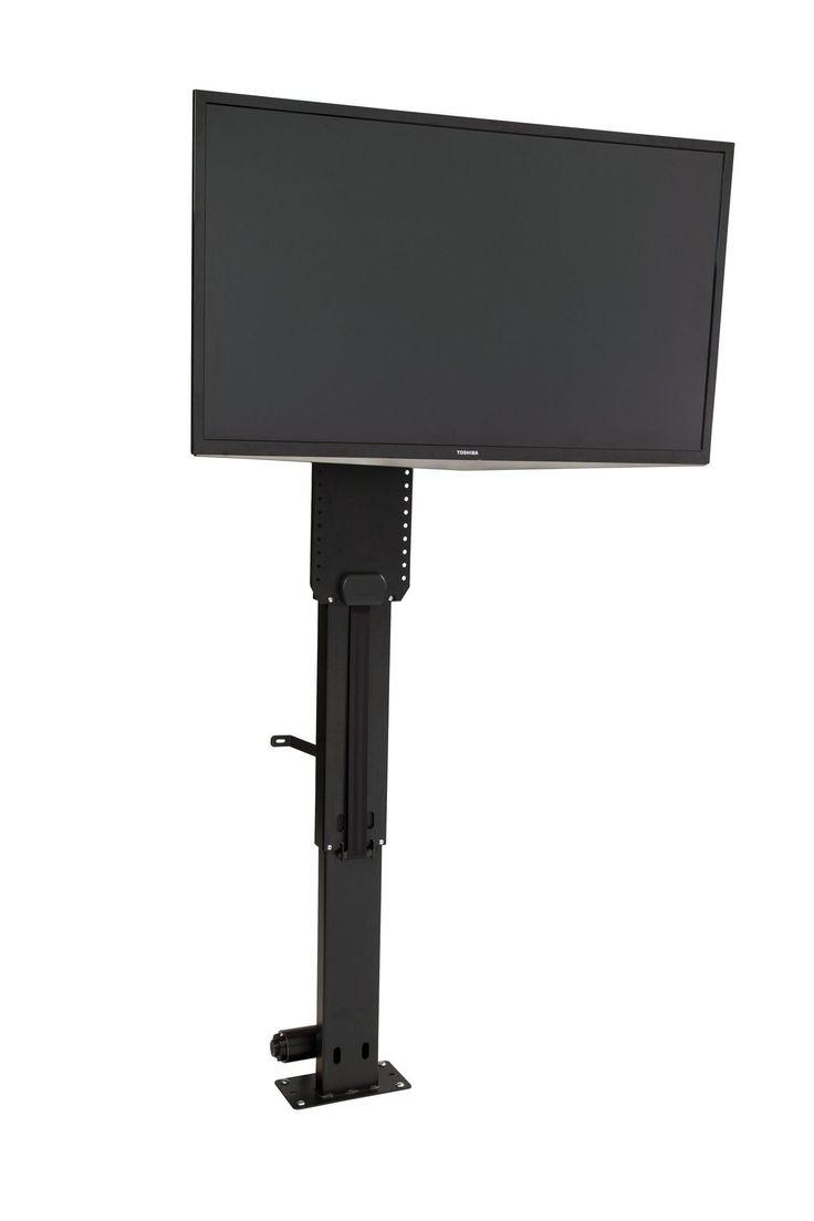 Best 25 motorized tv mount ideas on pinterest hidden tv for Motorized tv lift with swivel