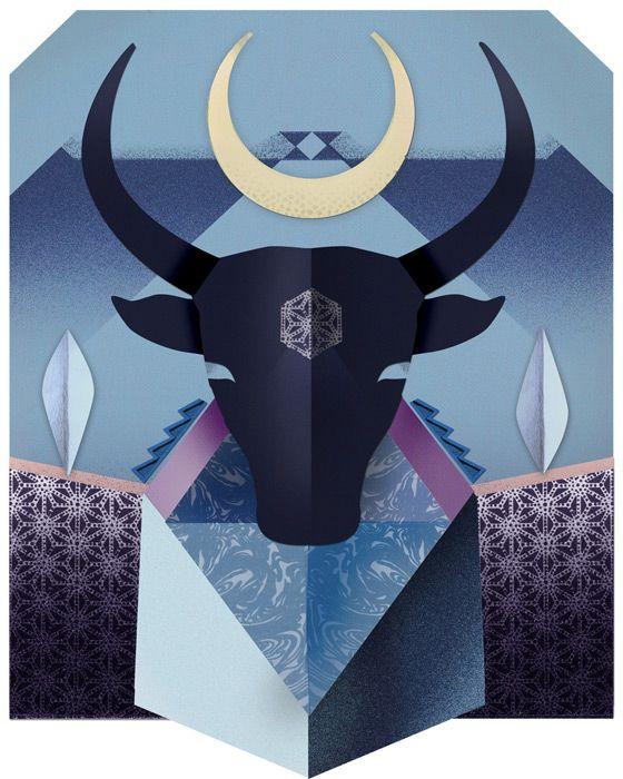 Elle japan, horoscope, zodiac, illustration, silja goetz