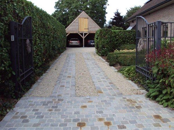 Realisaties - Opritten en parkings: De Clercq Pieter – terrassen, opritten, tuinaanleg, Oost-Vlaanderen, West-Vlaanderen, Antwerpen, Vlaams-Brabant, Vlaanderen