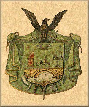 Brasão do Grau de Cavaleiro do Oriente - Rito Escocês Antigo e Aceito