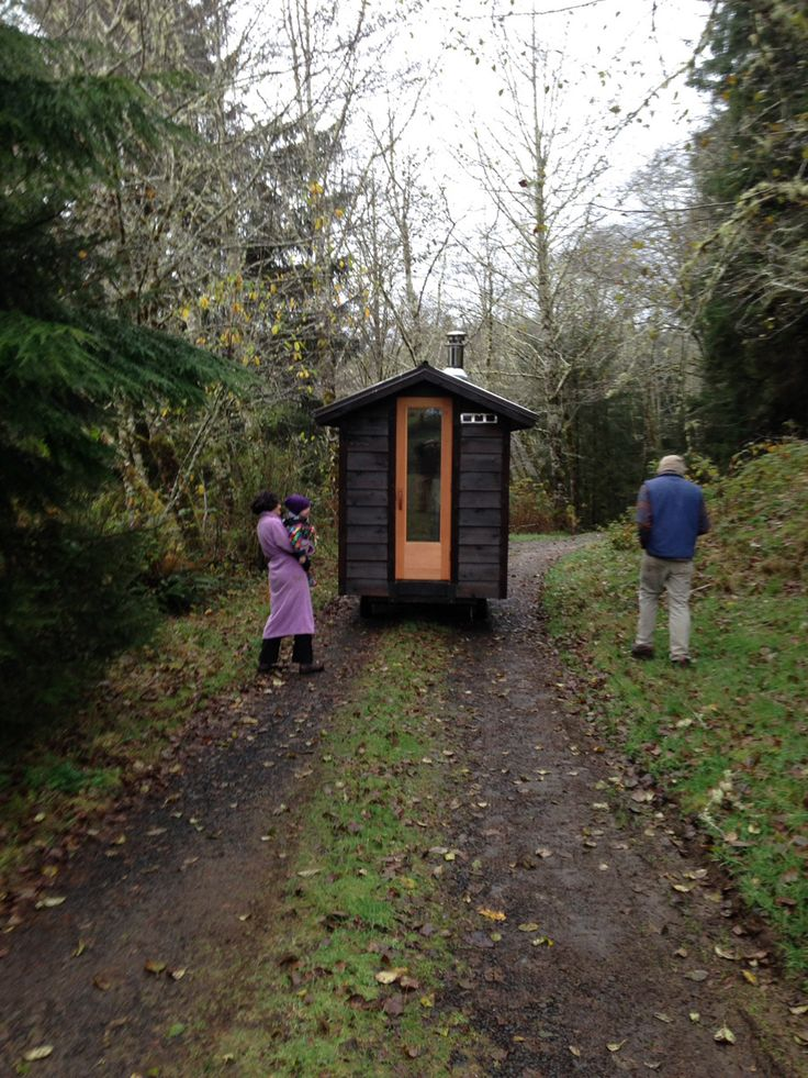 in case you ever wanted a tiny, portable sauna...