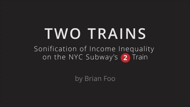 This song emulates a ride on the New York City Subway's 2 Train through three boroughs: Brooklyn, Manhattan, and the Bronx. At any given time, the quantity and dynamics of the song's instruments correspond to the median household income of that area.  Read more about the composition and process of creating this song here: https://datadrivendj.com/tracks/subway  Data-Driven DJ (https://datadrivendj.com) by Brian Foo (http://brianfoo.com) is a series of music experiments that combine data…