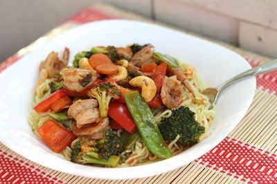 Spicy Shrimp and Vegetable Stir-Fry by Simply Stacie (Click for the recipe!)