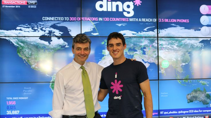 Ireland's #1 tennis player James McGee visited Ireland's #1 start-up ding* today! #dingnews  #dinglife