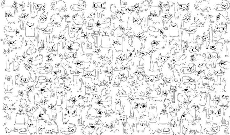 """Обои-раскраски """"Веселые коты"""" 60х100см"""