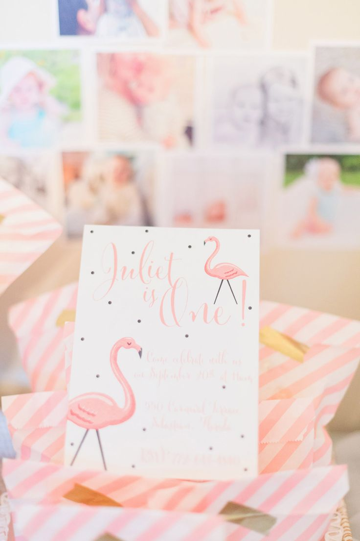 Juliet's Flamingo Themed First Birthday Party | The Little Umbrella