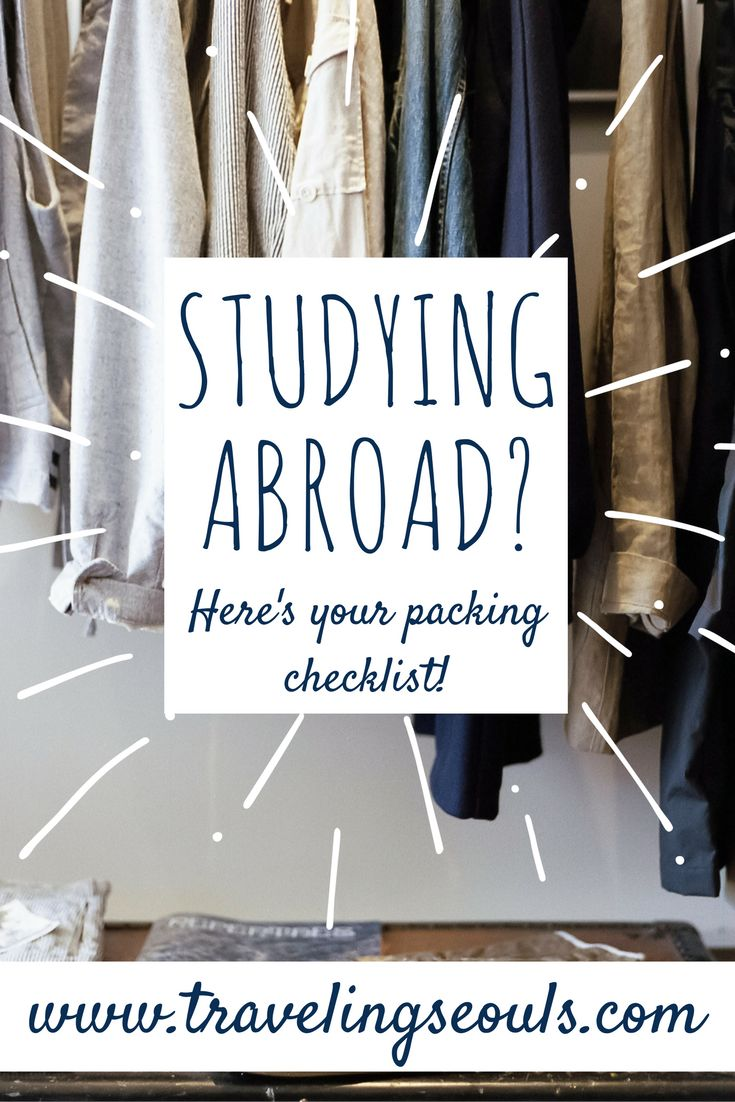 Need a study abroad packing checklist? Get your's here! (One for the College Guy and one for the College Gal). Click to check out how or save this pin for later. More at Traveling Seouls