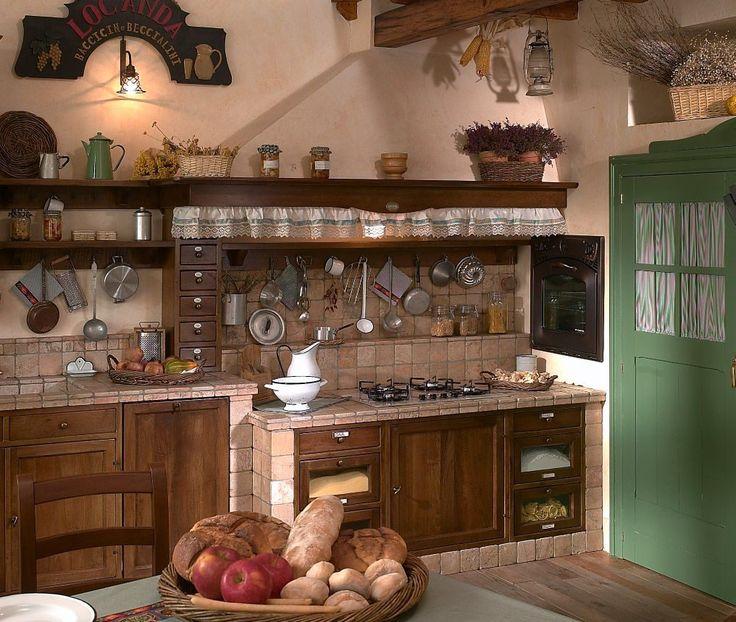 Fuegos de una cocina rústica