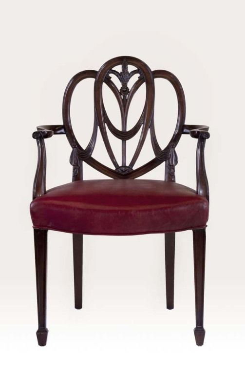 Hepplewhite Furniture | Pair Heartback Hepplewhite Chairs | From A Unique  Collection Of .