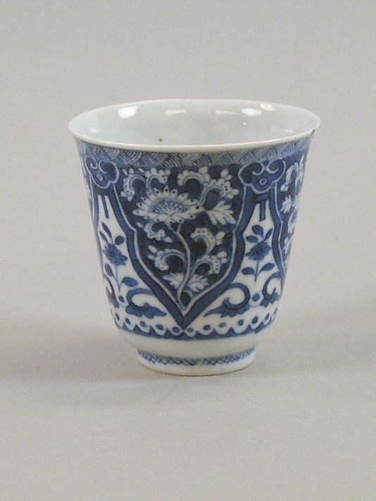 Cup - China late 17th early 18th C. Qing dynasty. (This is the kind of thing we would buy at Todd Farm to stick paint water in, isn't it?)