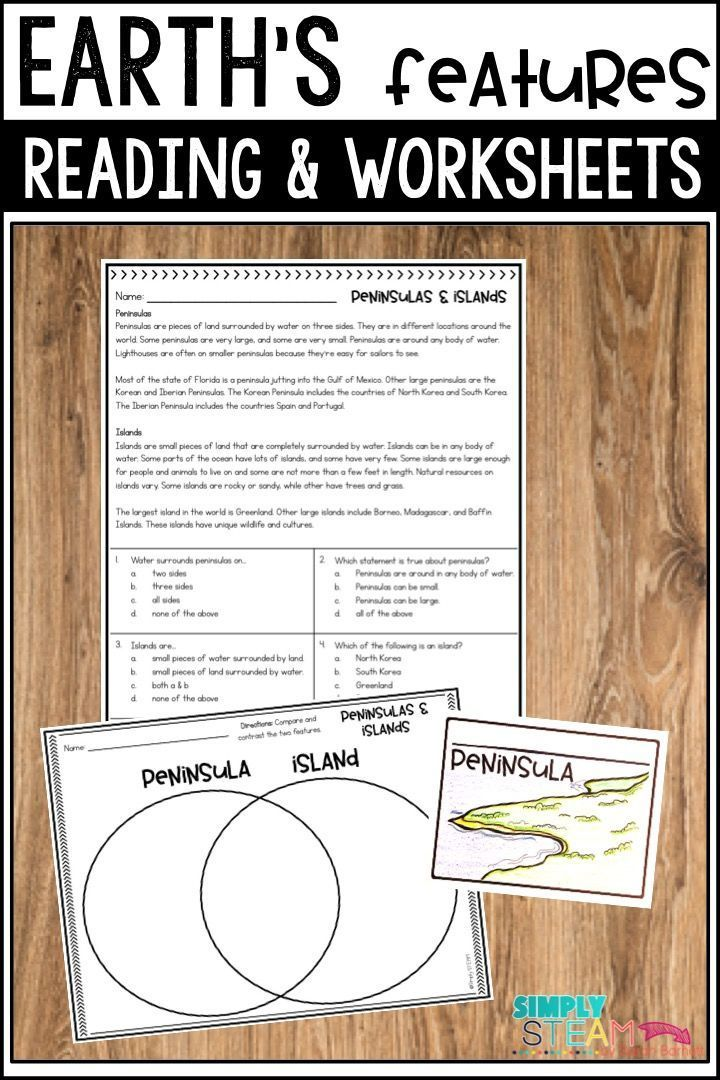 Landform Worksheets For 3rd Grade Kids Will Have Fun Reading About Eart Elementary Science Activities Elementary Reading Activities Elementary Writing Prompts 3rd grade landform worksheets
