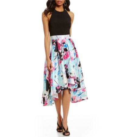 Shop for S.L. Fashions Halter Floral-Print Hi-Low Dress at Dillards.com. Visit Dillards.com to find clothing, accessories, shoes, cosmetics & more. The Style of Your Life.