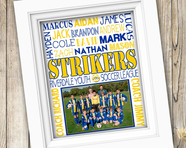 Soccer Coach Gift ~ End of Season Soccer Team Gift ~ Printable Subway Art ~ Personalized Team Photo Gift ~ Soccer Coaches Thank You Poster by SubwayStyle on Etsy