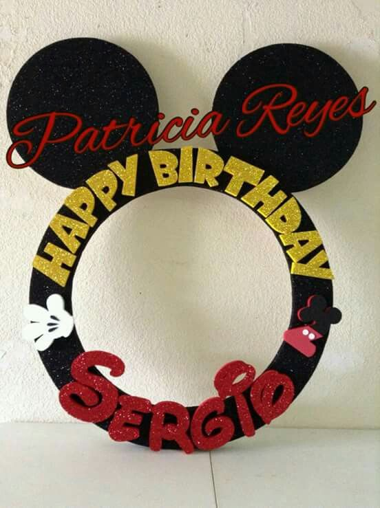 Foto booth frame Mickey Mouse #birthday #marco #ideasfiestas