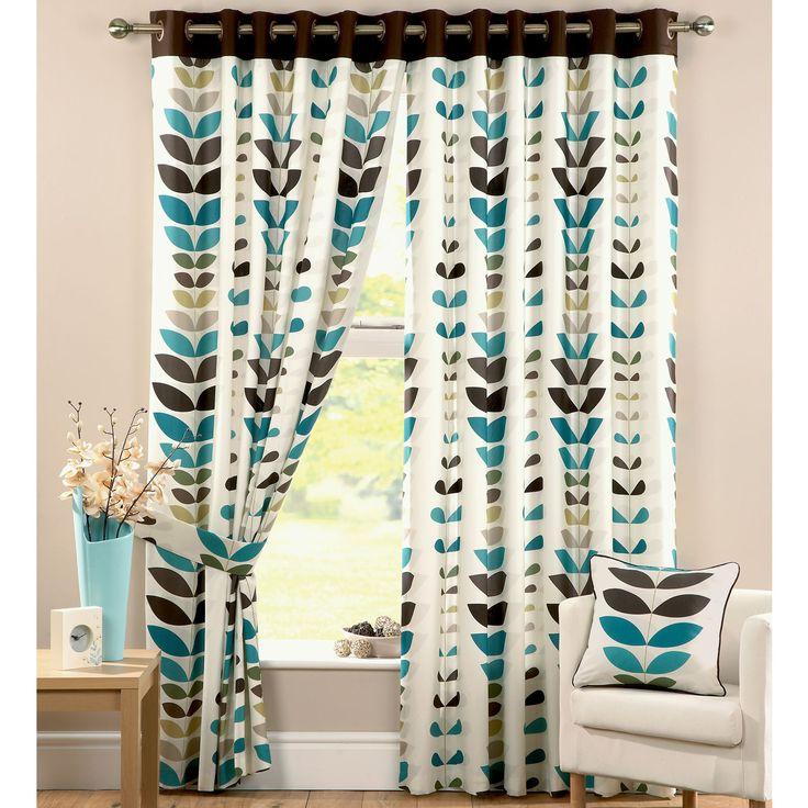 Zest Teal Curtains