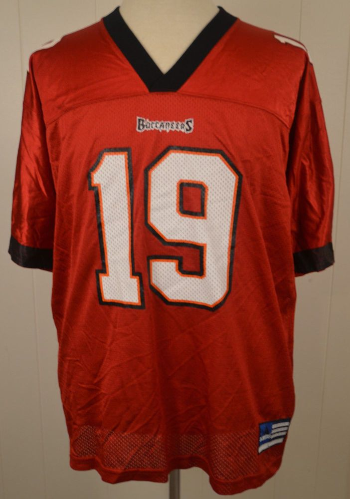 07b38e6347d Adidas Tampa Bay Buccaneers NFL Replica Jersey  19 Keyshawn Johnson Large  Red  adidas  TampaBayBuccaneers