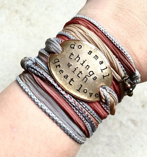 silk wrap bracelet do small things with great love by SailorStudio