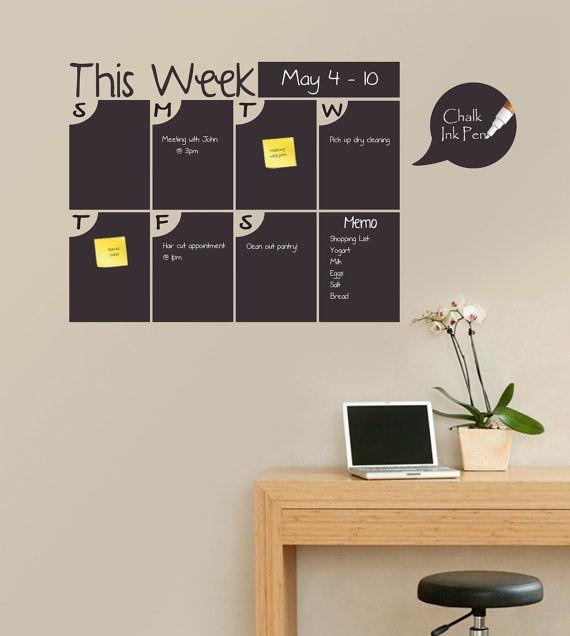 Weekly Chalkboard Calendar Chalkboard by TOTALSIGNSOLUTIONS, $59.00