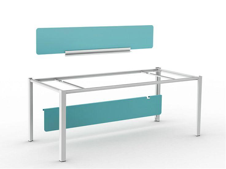 Workstation desk with shelves WAY - ENEA: Workstation desk with shelves