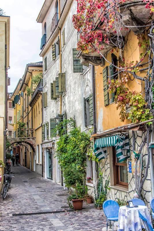 along the shores of Lake Garda. Italy
