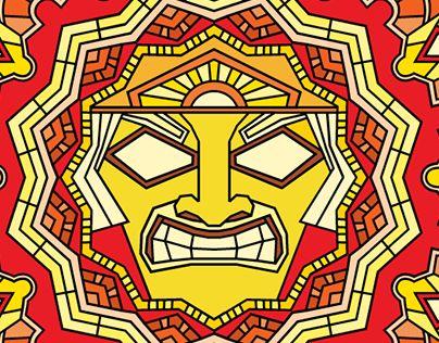 "Check out new work on my @Behance portfolio: ""The sun god mandala"" http://be.net/gallery/64578103/The-sun-god-mandala"