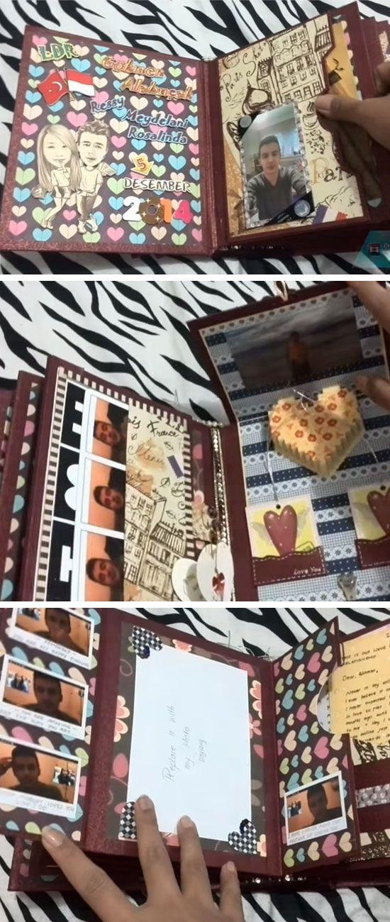 DIY Scrapbook for Boyfriend | DIY Valentine Gifts for Him | DIY Valentine Gifts for Boyfriend