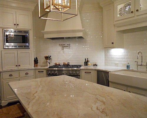 taj mahal quartzite kitchen | Countertops - Quartzite