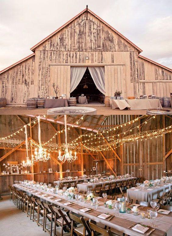 Barn wedding - chic + country.