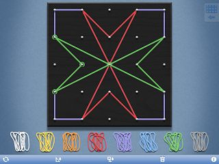 Very thorough lesson on symmetry using Explain Everything, Geoboard, Inspiration Maps, Sticky Notes, and Symmetry Shuffle apps:  http://ipadapptivities.blogspot.com/2013/04/teaching-symmetry.html