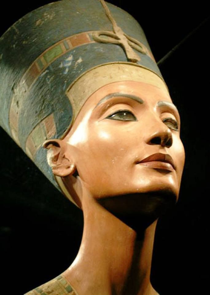 """Neferneferuaten Nefertiti c. 1370 – c. 1330 BC """"Great of Praises; Lady of Grace, Sweet of Love; Lady of The Two Lands; Main King's Wife, his beloved; Great King's Wife, his beloved, Lady of all Women;..."""