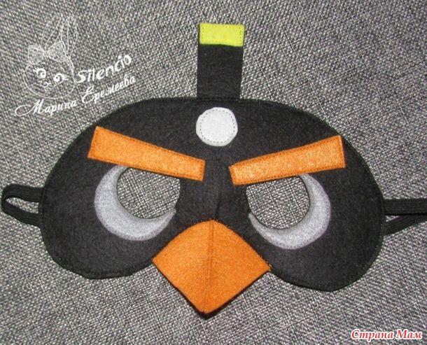 Маски Angry Birds из фетра