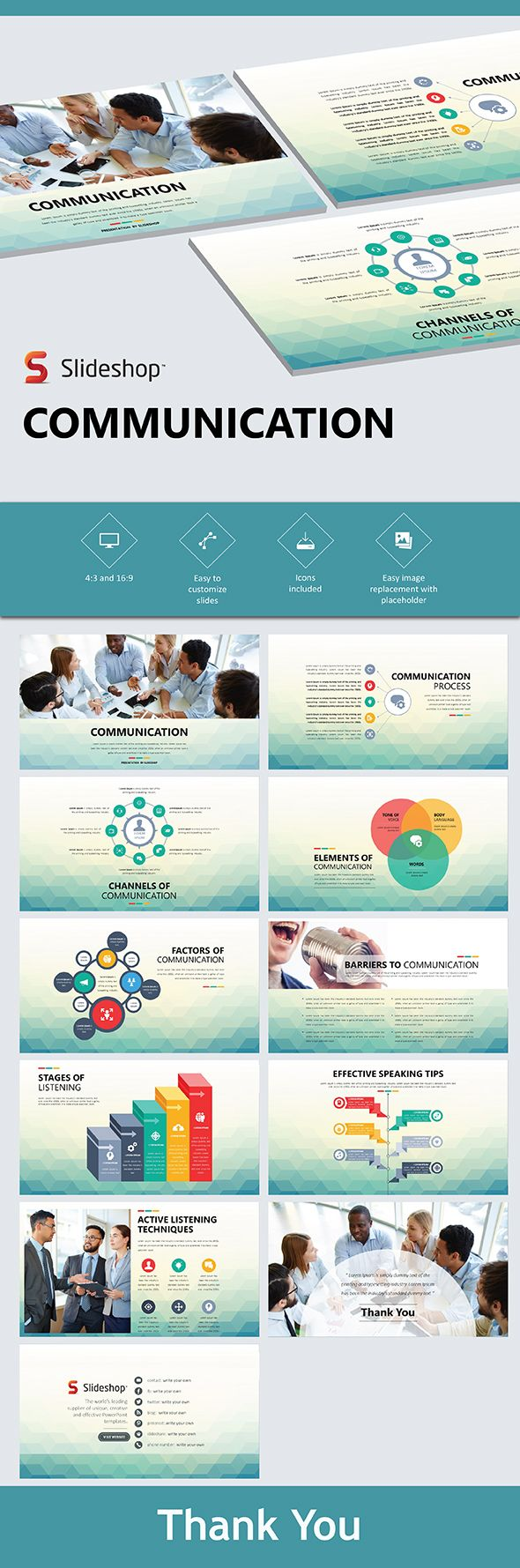 Communication - PowerPoint Templates Presentation Templates Download here: https://graphicriver.net/item/communication/19853600?ref=classicdesignp