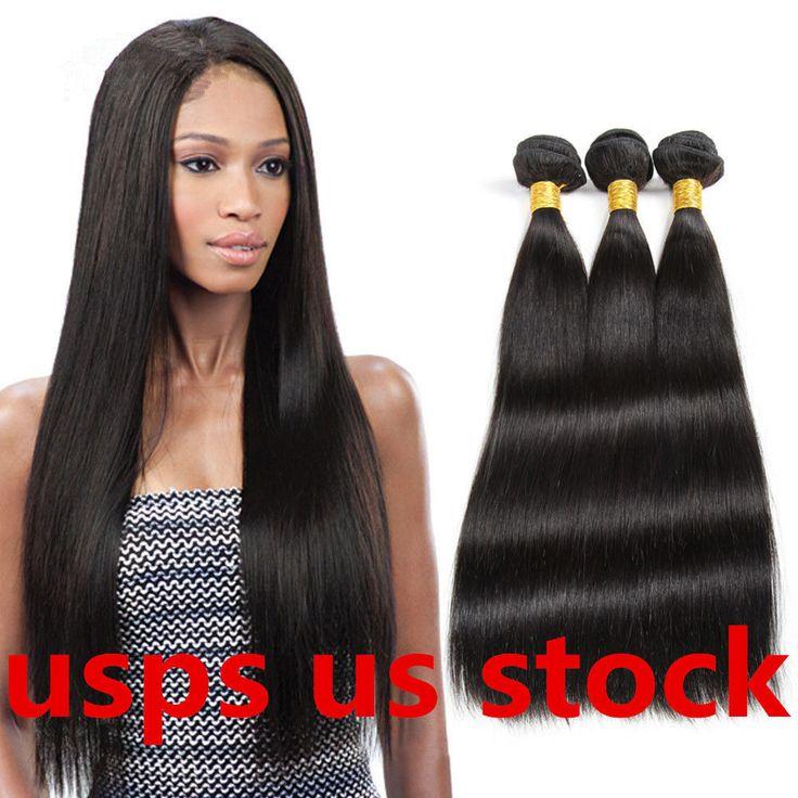 Womens Brazilian Straight Human Hair 1 Bundle/100g Virgin Remy Hair Extensions