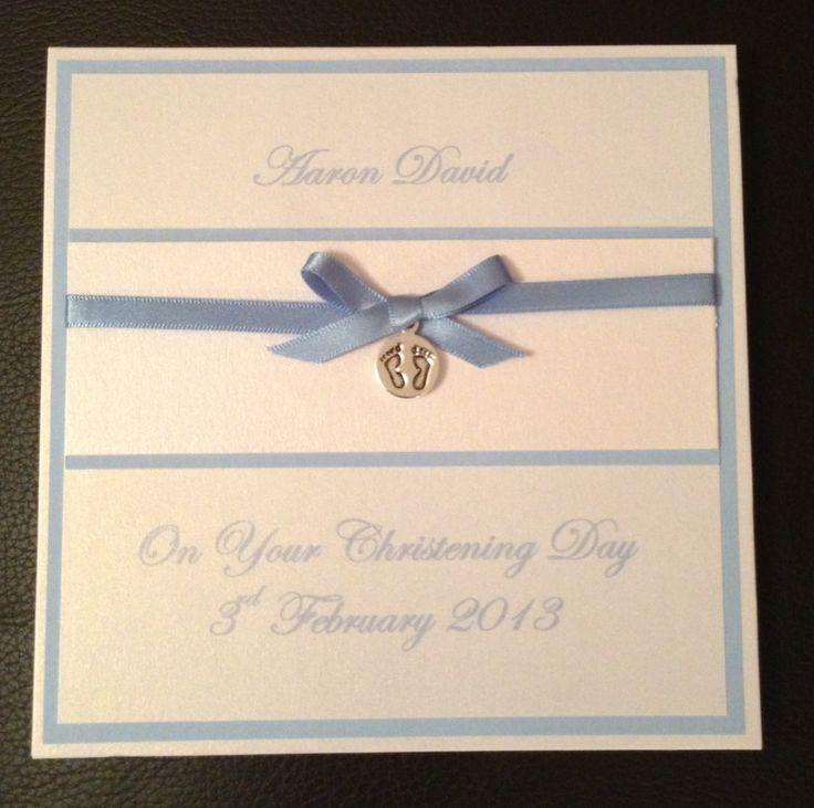 Superb Card Making Ideas Baptism Part - 8: Handmade Christening Card -Personalised