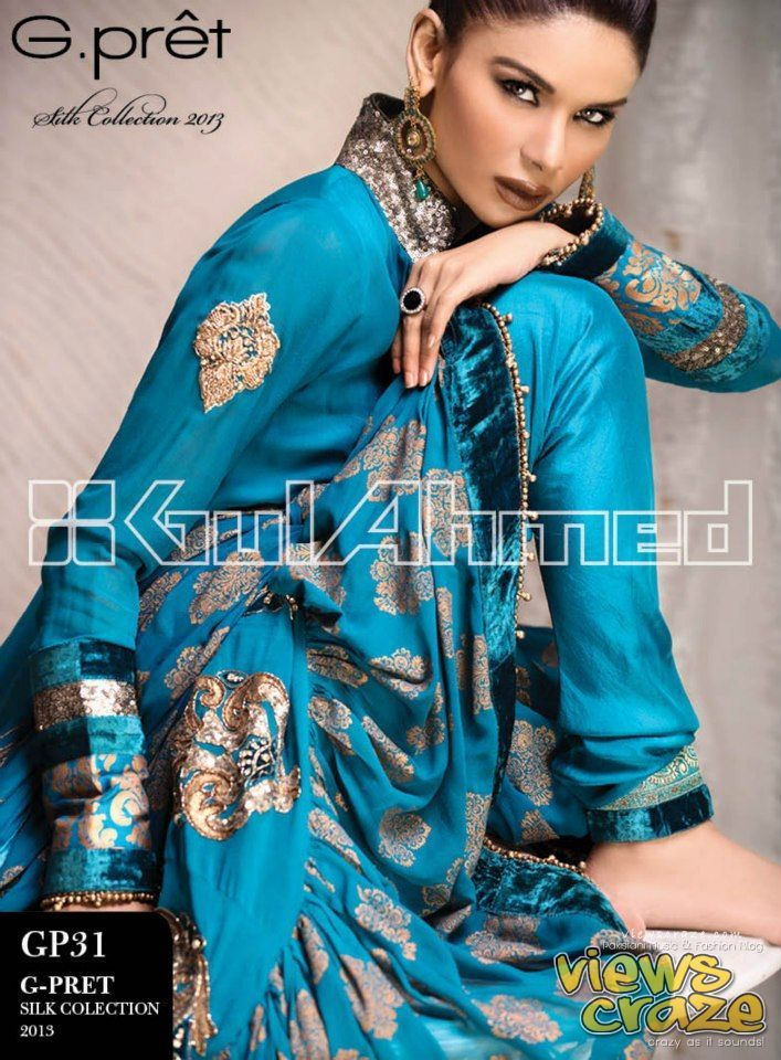 Gul Ahmed G Pret Silk Collection 2013 with Neha Ahmed