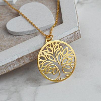 Złoty naszyjnik drzewo życia. Cena:129zł. Kup na: https://laoni.pl/naszyjnik-drzewo-zycia-zloty #naszyjnik #celebrytka #złoty #biżuteria #drzewozycia