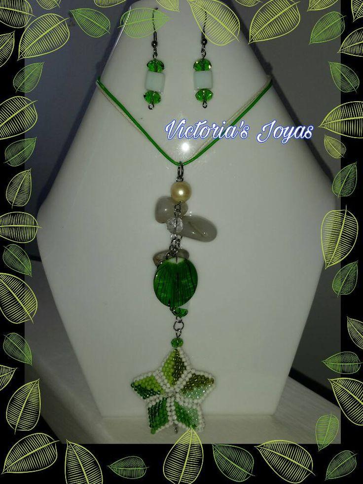 Conjunto verde blanco estrella – VICTORIA´S JOYAS