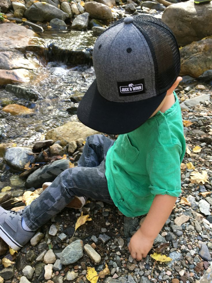 Adorable Jack & Winn trucker hat! www.jackandwinn.com baby and toddler sizes.. Finally!