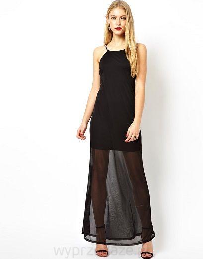 * zawsze oryginalny krój , 100% elegancji * długa sukienka na cienkich ramiączkach, pod spodem krótsza podszewka, wycięte plecy z przechodzącymi przez nie cienkimi paseczkami * krój sukienki podkreślający kobiecą sylwetkę MATERIAŁ: 100% polyester DŁUGOŚĆ SUKIENKI ok - 148 cm modelka ma 178 cm wzrostu