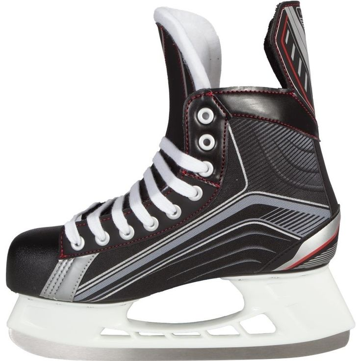 #Bauer Vapor X200 Ice Skate #Bauer Vapor X200 Ice SkateSkate with more agility in this tapered- fitting skate. With a standard fit in the toe box and a narrower V-fit in the ankle and heel, players can accelerate and turn in the ultimate skate built for quickness and mobility.We recommend buying true to your normal shoe size.Upper Features:Quarter Package Premium nylonLining Material MicrofiberAnkle Padding Patented integrated anatomical heel/ankle supportTongue Construction Anatomical…