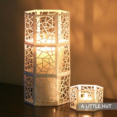 Stunning laser cut candle wraps.