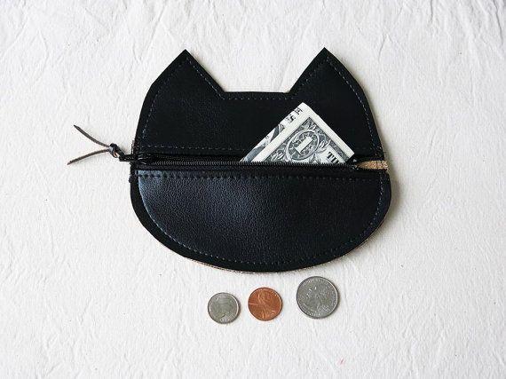 Cat Coin Pouch / portefeuille sur Etsy, 18,44 €