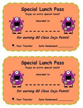 EDITABLE! Class Dojo Reward Menu and Certificates