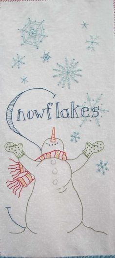 I'm leading a hand embroidery block party this year using the pattern Snowmen A to Zzzz... from Crabapple Hill. I've promised my group I'd post here after we meet. So if you miss a meeting or for...