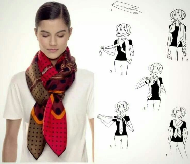 Как завязать платок