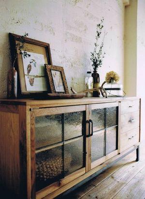 furniture : nice display cabinet  glass door additions always key