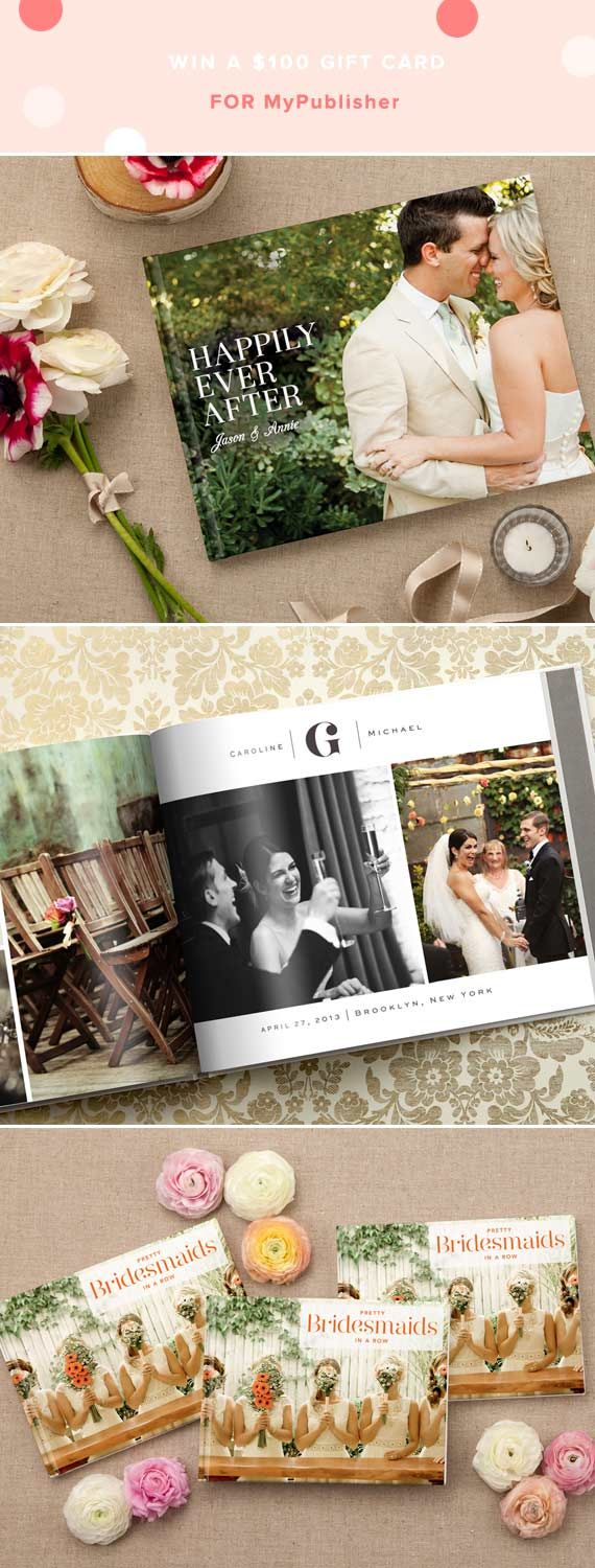 Great idea. Make a photobook of bridal party photos for each of your maids via MyPublisher.