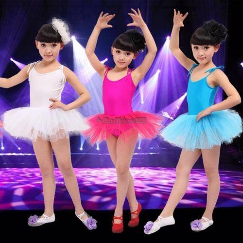 Kinder Mädchen Ballett Tutu Rock Petticoat Kleid Gymnastikanzug Tanzkleid Tüll