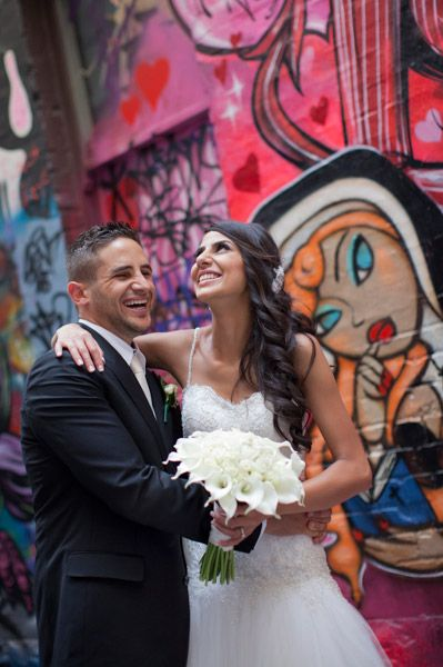 Sarah Churcher Photography | Wedding Photographer | Melbourne | A happy laneway #graffiti #city www.sarahchurcher.com