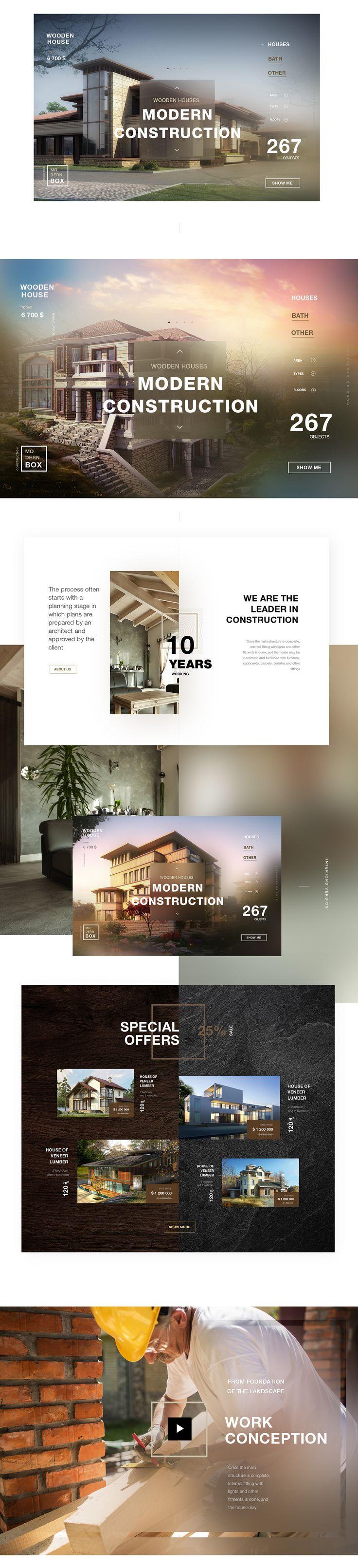 """다음 @Behance 프로젝트 확인: """"Modern Property"""" https://www.behance.net/gallery/42949233/Modern-Property"""